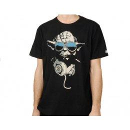 Tee-Shirt Noir Yoda Cool Star Wars