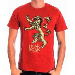 Tee-Shirt Rouge Hear Me Roar Game of Thrones