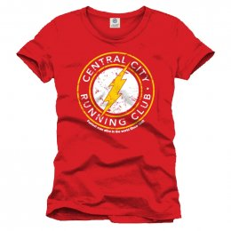 Tee Shirt Rouge Running Club Flash