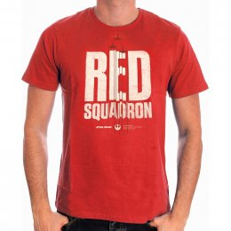 Tee-Shirt Rouge Red Squadron Star Wars