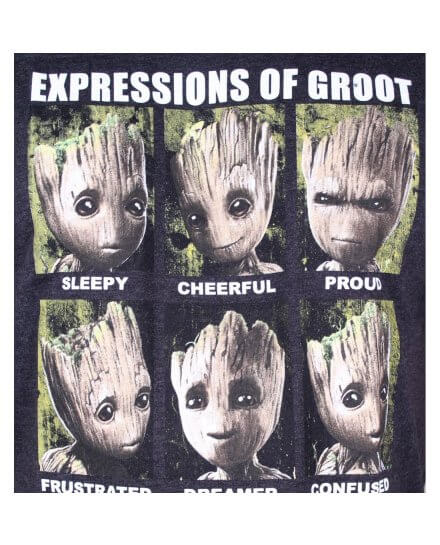 T-Shirt Expressions of Groot Gardiens de la Galaxie