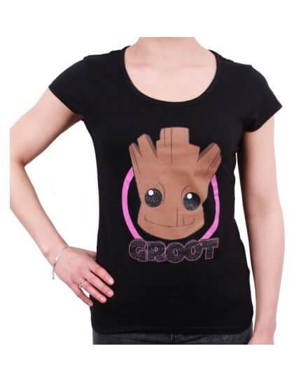 T-Shirt Femme Little Groot Head Gardiens de la Galaxie