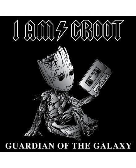 T-Shirt Groot Rock femme
