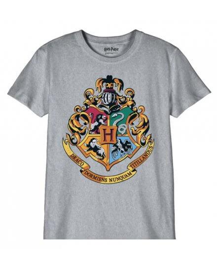 T-shirt Harry Potter Enfant Poudlard gris