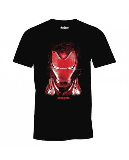 T-Shirt Iron Man Face noir et rouge
