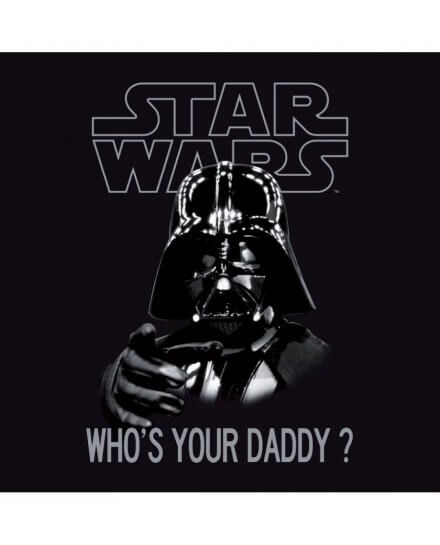 T-shirt Star Wars Enfant Who's your daddy