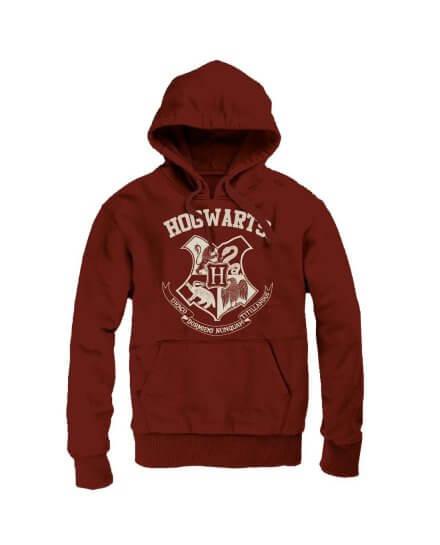Sweat Harry Potter Hogwarts bordeaux à capuche