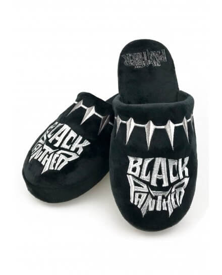 Chaussons Adulte noirs Black Panther