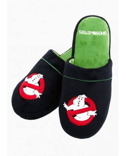 Chaussons Adulte Noirs Ghosbusters