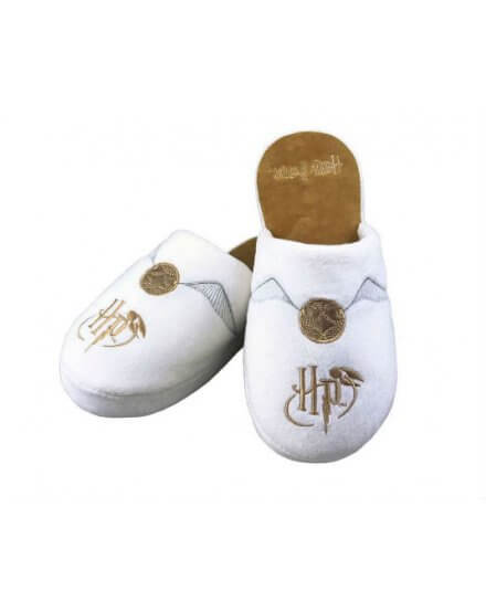 Chaussons Harry Potter Vif d'or Blancs et dorés