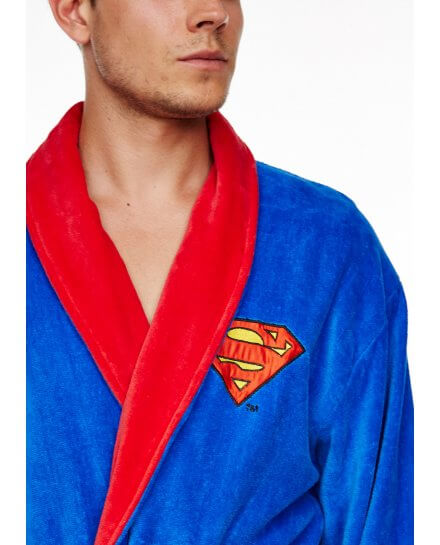 Peignoir Adulte Bleu Roi Logo Superman