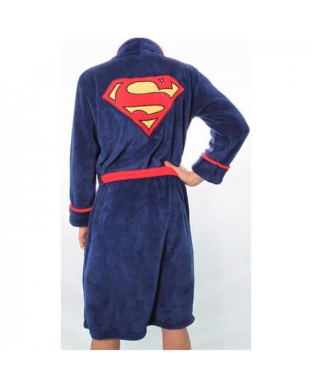 Peignoir Bleu Logo Superman