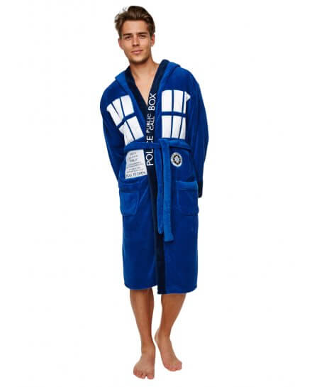 Peignoir Homme bleu Doctor Who