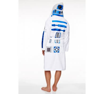 Peignoir Adulte Blanc R2D2 Star Wars