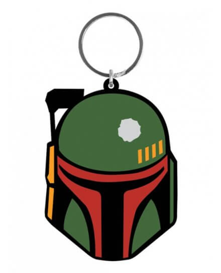 Porte-clés caoutchouc Boba Fett 6 cm Star Wars