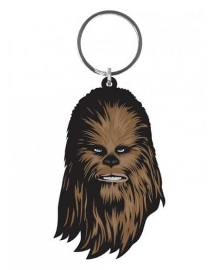 Porte-clés Caoutchouc Chewbacca 6 cm Star Wars