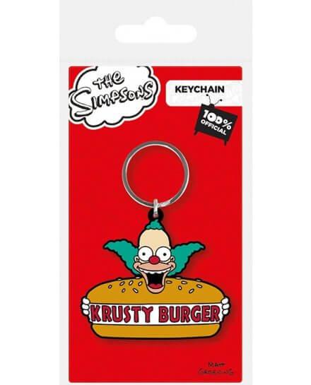 Porte-clés Caoutchouc Krusty Burger Simpsons