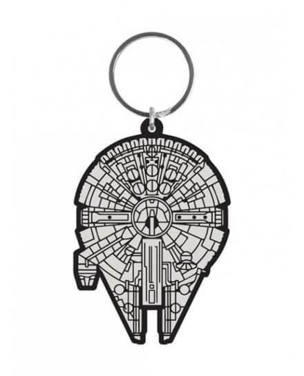 Porte-clés Caoutchouc Millennium Falcon 6 cm Star Wars
