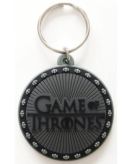Porte-clés Logo Caoutchouc 6cm Game of Thrones