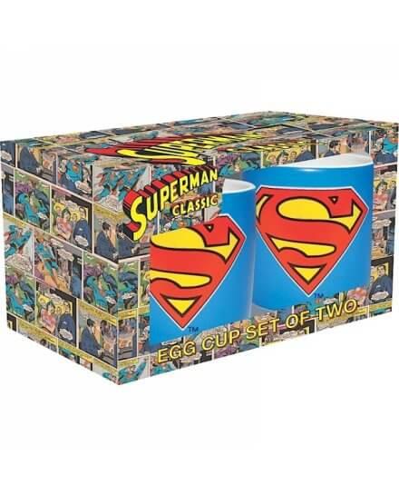 Set de 2 Coquetiers Bleus Logo Superman
