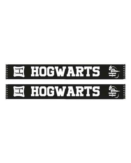 Echarpe Officielle Harry Potter Hogwarts noire et blanche