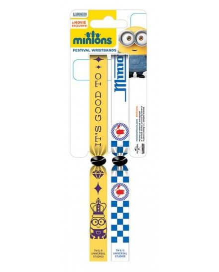 Pack de 2 Bracelets Minions It's Good To Moi Moche et Méchant