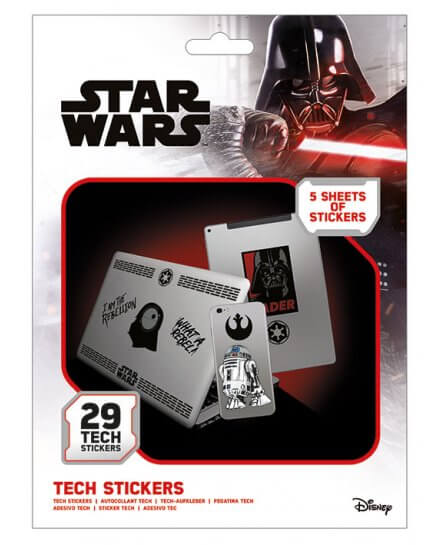 Pack de 29 Tech Stickers Star Wars