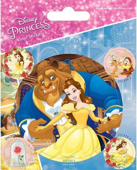 Pack de 5 Stickers La Belle et la Bête Disney