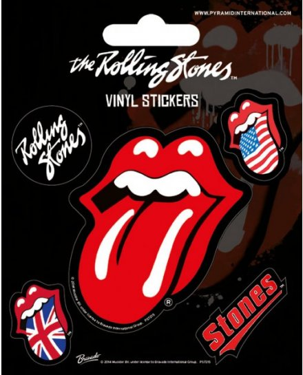 Pack de 5 Stickers Rolling Stones