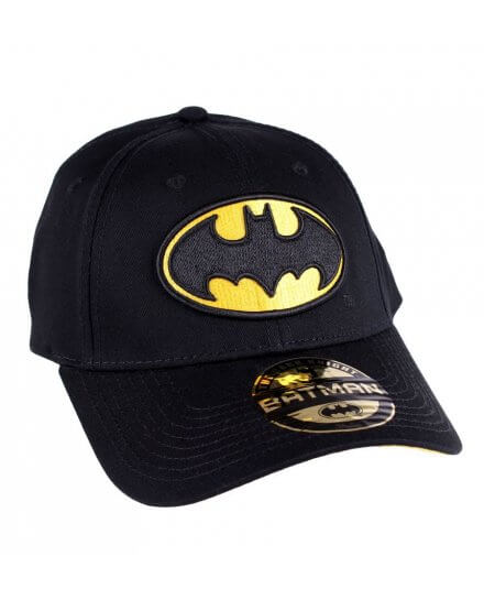 Casquette Batman Noire Logo jaune baseball