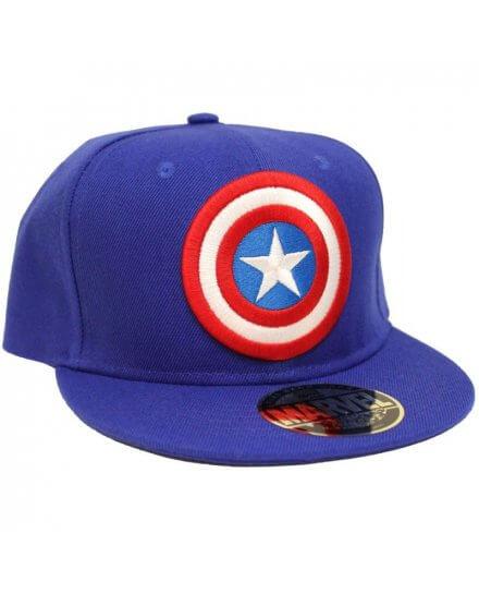 Casquette Bleue Logo Captain America