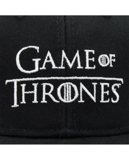 Casquette Game Of Thrones noire logo