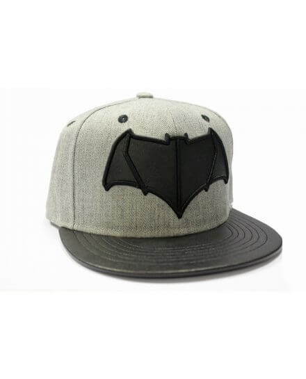 Casquette Grise Logo Noir Batman VS Superman
