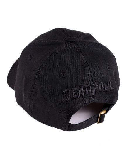 Casquette Noire Logo Métal Deadpool