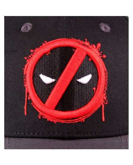 Casquette Noire Logo Rouge Splash Head Deadpool