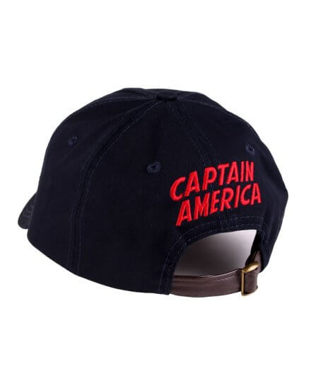 Casquette bleue marine Logo Shield Captain America