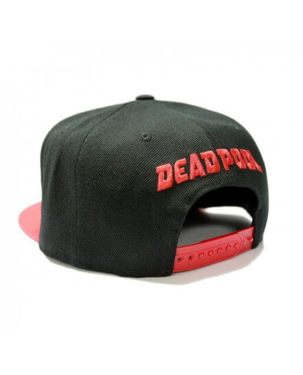 Casquette Noire Snapback Logo Deadpool