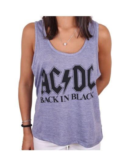 Débardeur Femme Back in Black ACDC