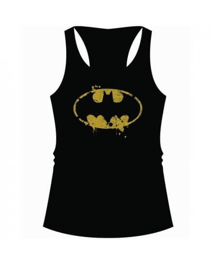 Débardeur Femme Noir Logo Grunge Batman