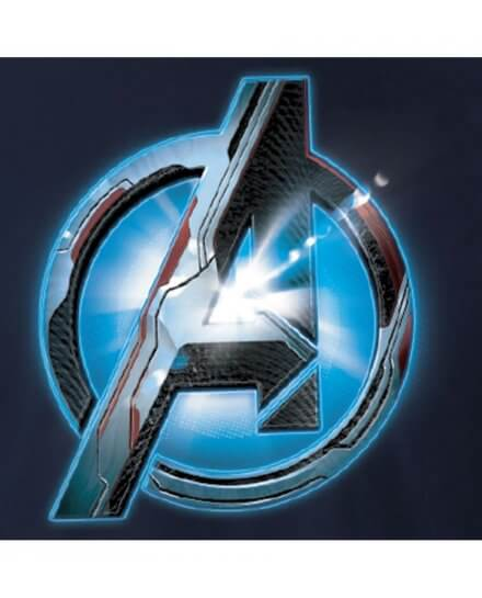 Tee-Shirt Avengers Bleu Logo Optic