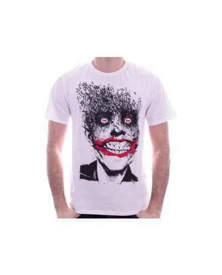 Tee-Shirt Blanc Crazy Joker Batman
