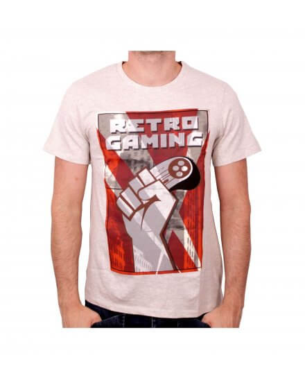 Tee-Shirt Blanc Retro Gaming Geek