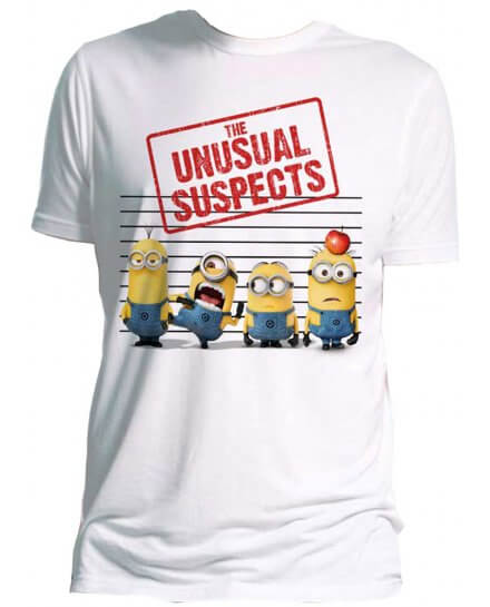 Tee-Shirt Blanc Unusual Suspects Moi Moche et Méchant