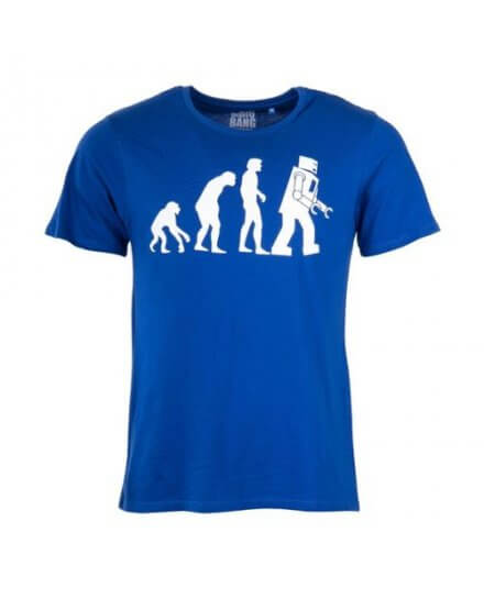 Tee-Shirt Bleu Evolution The Big Bang Theory