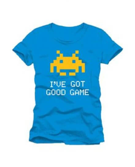Tee-Shirt Bleu I've Got Good Game Space Invaders