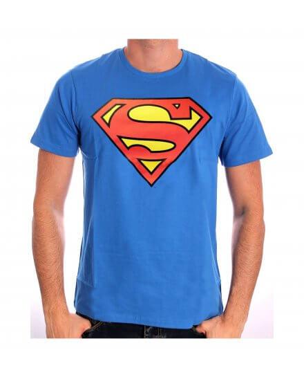 Tee-Shirt Bleu Logo Rouge Classique Superman