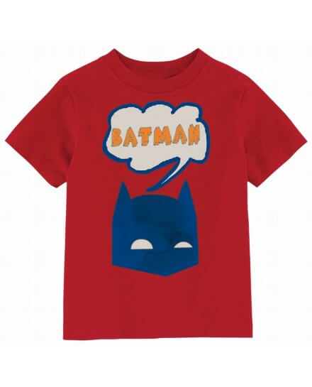 Tee Shirt Enfant Rouge BD Batman