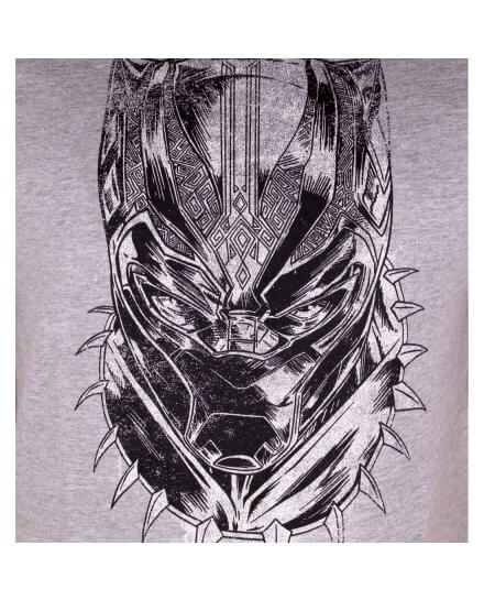 Tee-Shirt Face Black Panther