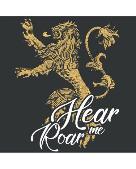 Tee-Shirt Game of Thrones femme Lannister Hear me Roar