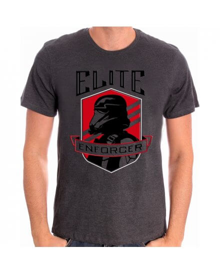 Tee-Shirt Gris Elite Enforcer Star Wars